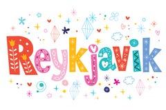 Reykjavik text lettering decorative type Stock Photos