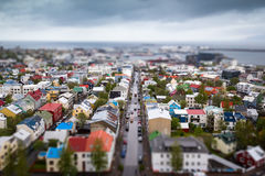 Reykjavik town center. The Reykjavik town center in Iceland Stock Photo