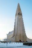 REYKJAVIK/UK - LUTY 05: Widok Hallgrimskirkja kościół Fotografia Royalty Free