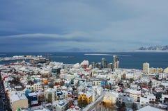 Reykjavik van de binnenstad, IJsland Royalty-vrije Stock Afbeeldingen