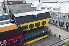Reykjavik van de binnenstad, IJsland Stock Foto's