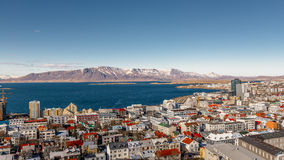 Reykjavik von oben Stockfotos