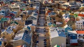 Reykjavik von oben Lizenzfreie Stockbilder