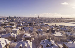 Reykjavik in winter Stock Image