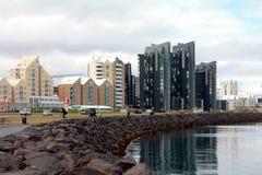 Reykjaviks Küste lizenzfreie stockfotos