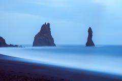 Reynisdrangar cliffs near village Vík, South Iceland Royalty Free Stock Photography
