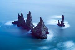 Reynisdrangar cliffs Royalty Free Stock Photos