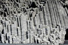 Reynisdrangar rock formation in Vik i Myrdal Royalty Free Stock Images
