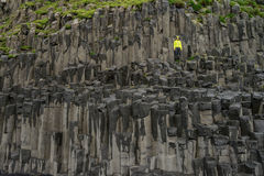 Reynisfjara basalt columns Stock Images