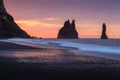 Reynisfjara Beach At Sunrise Stock Image