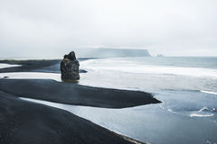 Reynisfjara beach, Iceland Royalty Free Stock Photos