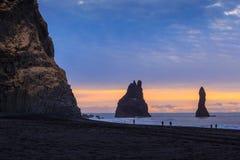 Reynisfjara Beach at sunrise Royalty Free Stock Photography