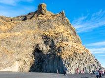 Reynisfjara black sand beach in Vik, Iceland Royalty Free Stock Images