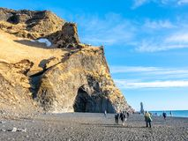 Reynisfjara black sand beach in Vik, Iceland Royalty Free Stock Photo
