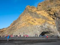 Reynisfjara black sand beach in Vik, Iceland Stock Image