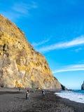 Reynisfjara black sand beach in Vik, Iceland Royalty Free Stock Photography