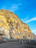 Reynisfjara czerni piasek plażę w Vik, Iceland Obrazy Stock
