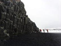 Reynisfjara, IJsland royalty-vrije stock foto's