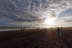 Reynisfjara plaża w południowym Iceland zdjęcia royalty free