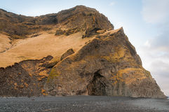 Reynisfjara rock formations at Halsanefhellir Iceland Royalty Free Stock Photography