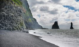 Reynisfjara rock formations Royalty Free Stock Photography