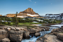 Reynolds Mountain in Logan Pass, Gletsjer Nationaal Park Royalty-vrije Stock Afbeelding
