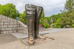 Reza Shah bronze statue Royalty Free Stock Photo