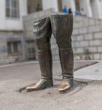 Reza Shah legs statue Stock Photography