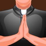 Rezando as mãos do padre Imagens de Stock