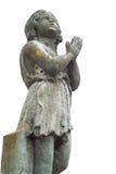 Rezando a estátua da criança sobre o fundo branco Imagem de Stock Royalty Free