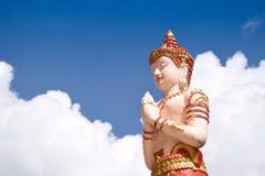 Rezando a imagem da Buda Fotografia de Stock Royalty Free