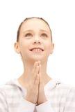 Rezando o adolescente Foto de Stock Royalty Free