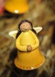 Rezando o anjo do Natal Imagens de Stock Royalty Free