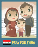 Rezar para Síria ilustração do vetor