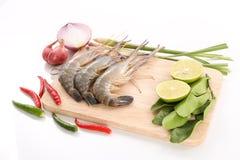 Rezept für heiße und saure thailändische Suppe - Tom Yam Kung Stockbild