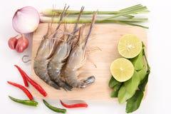 Rezept für heiße und saure thailändische Suppe - Tom Yam Kung - nahes hohes Lizenzfreie Stockfotografie
