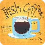 Rezept für Kaffee Stockbilder