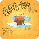 Rezept für Kaffee Lizenzfreie Stockfotografie