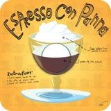 Rezept für Kaffee Stockfoto