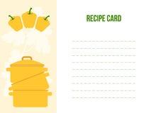 Rezept-Karte, flache Vektor-Illustration Stockfotos