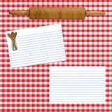 Rezept-Plan-Seite Stockbild