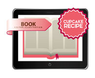 Rezeptbuch des kleinen Kuchens Stockfotos
