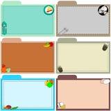 Rezeptkarten für die Küche Lizenzfreie Stockfotos