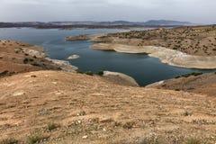 Rezerwat wodny, hydroelektrycznej władzy tama Zdjęcia Stock