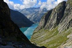Rezerwat wodny jezioro Gelmersee Fotografia Royalty Free