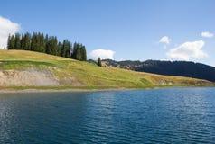 Rezerwat Wodny jezioro Przy Bà ¼ rgl Alm W Dienten Am Hochkönig W Salzburg Austria Fotografia Stock