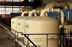 rezerwuarów chemiczni zbiorniki Fotografia Royalty Free