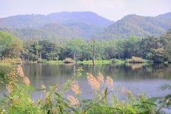 Rezerwuar i góra Zdjęcie Stock
