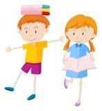 rezerwuje chłopiec dziewczyny ilustracja wektor