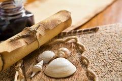 rezerwuje czasopisma starą pióra dutki ślimacznicę Obraz Stock